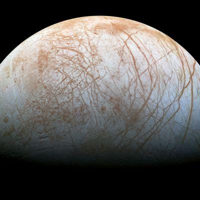Nasan välittämä kuva Jupiterin Europa-kuusta.
