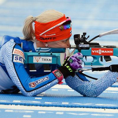 Kaisa Mäkäräinen lyckades inte på skjutvallen.