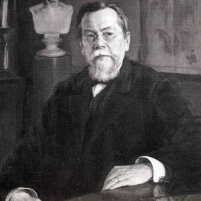 Eero Järnefeltin muotokuva professori August Ahlqvistista