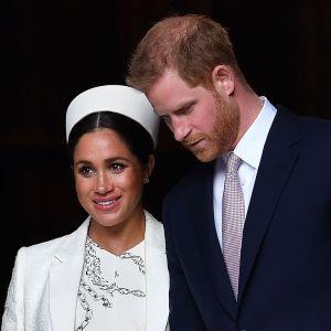 Harry och Meghan på en bild från mars 2019.