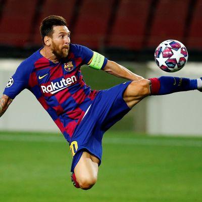 Lionel Messi i Barcelonas tröja.