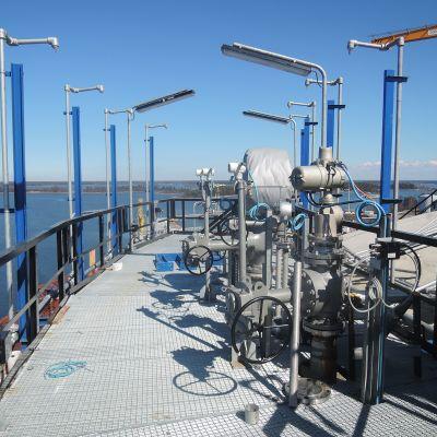 Kuva Porin LNG-terminaalista.