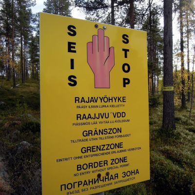 Rajavyöhyke Suomen ja Venäjän rajalla Inarissa. Kuva tämän vuoden syyskuulta. 19. syyskuuta 2019.