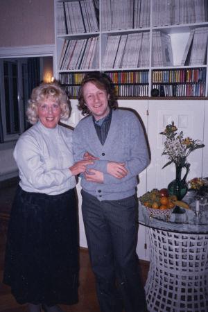 Meri Louhos ja viulutaiteilija Ilja Grubert.