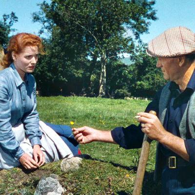 Maureen O'Hara ja John Wayne elokuvassa Vaitelias mies