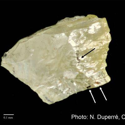 Lähikuva Tankavaaran timantista