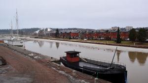 Största delen av isen är borta från Borgå å.