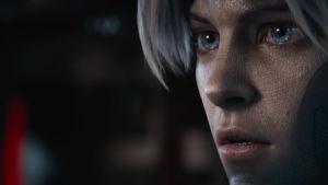Huvudpersonens avatar i närbild.