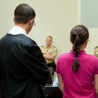 Den åtalade  Beate Zschäpe i rätten tidigare i år