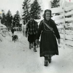 Poroerotukset Sevettijärvellä.