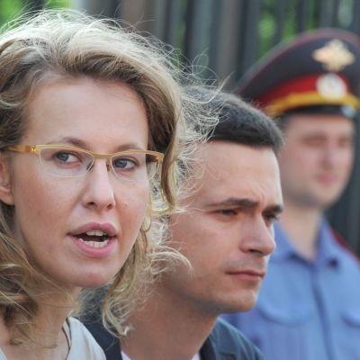 Ksenia Sobchak ja Ilja Jashin.