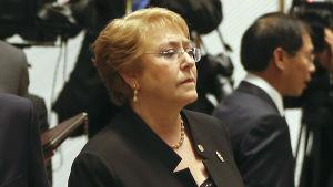Chiles president Michelle Bachelet vid Apec-toppmötet i Vietnam den 11 november 2017.