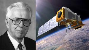 Verner Suomi ja hänen mukaansa nimetty satelliitti