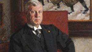 Porträtt av bergsrådet Gösta Serlachius målat av Bror Börjeson