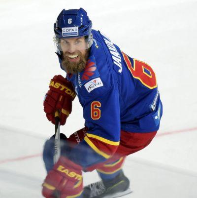 Topi Jaakola i matchen mot Metallurg Magnitogorsk.