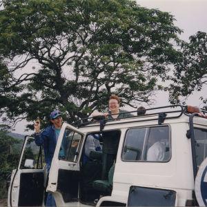 Irja Askola, Tansania, safari, jeeppi, Afrikka, seikkailu