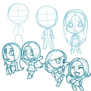 Floor Jansen australialaisen Asley Redmanin suunnittelemana animaatiohahmona.