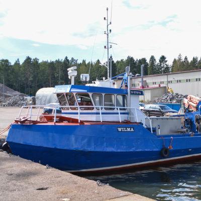 Trålhamnen i Valkom i Lovisa.