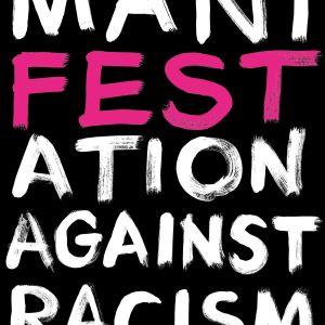 Plansch för Manifestationen mot rasism