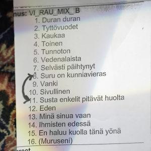 Jenni Vartiaisen settilista Rauhassa-sarjassa