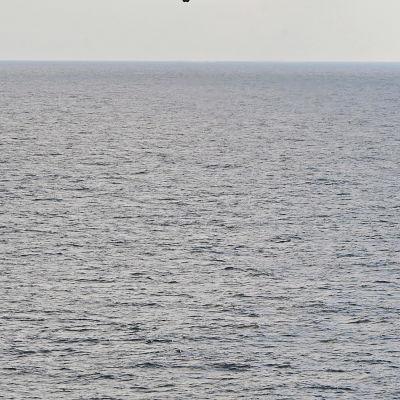 Båt och helikopter.
