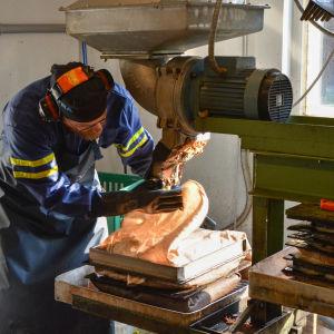 Vesa Aitokari tillverkar äppelmust