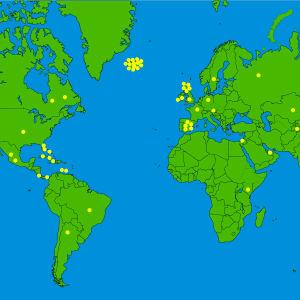 Katsojien matkakohteet kartalla