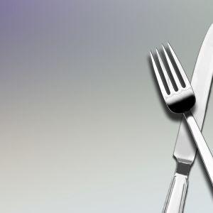En kniv och en gaffel