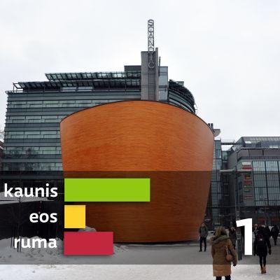 Ehdokas nro 1, Kampin hiljentymiskappeli, Simonkatu 7, Helsinki. Arkkitehti Mikko Summanen, Arkkitehtitoimisto K2S Oy