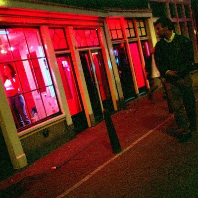 Red light district i Amsterdam
