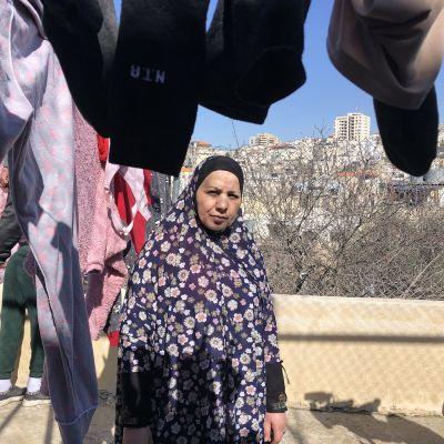 Fayza Abu Shamsiyyah kotitalonsa katolla Hebronissa