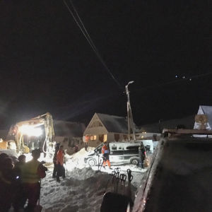 snöskred på Svalbard
