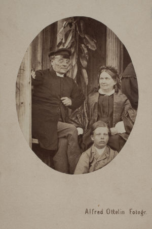 Johan Ludvig och Fredrika Runeberg år 1863.