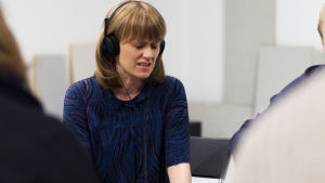 Sonja Ahlfors i Blaue Frau do Paul Auster