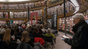 Program på Poesimässan i Stockholms stadsbibliotek i mars 2018.