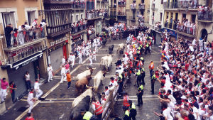 San Fermin -härkäjuoksu Pamplonassa