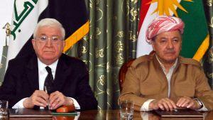 Iraks president Fuad Masum och Kurdistans regionpresident Massoud Barzani möttes i Dokan på söndagen, men krissamtalen tycks inte ha lett någon vart.