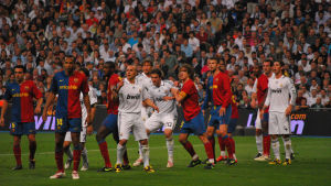 Jalkapallo-ottelu Barca-Real Madrid