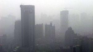 Smog över Shanghai