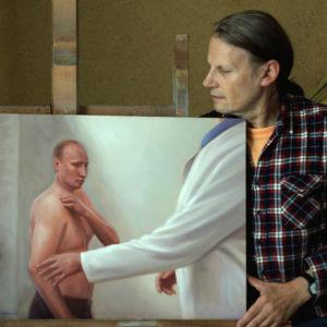 Kaj Stenvallin maalaus Seriously Yours, 2014, Putin lääkärissä