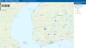 Skärmdump från Europeiska miljöbyråns tjänst.
