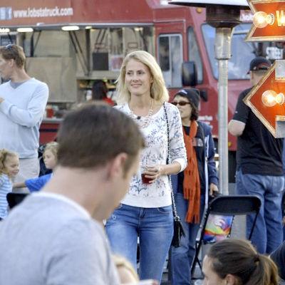 Kira Åkerström-Kekkonen på Food Truck området i San Francisco