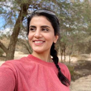 Kuvassa Loujain al-Hathloul