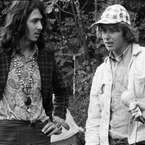 Miehistä pukeutumistyyliä Ruisrockista 1971.