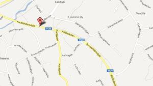 karta över köklaxleden i Esbo