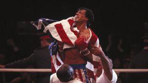 Sylvester Stallone i filmen Rocky IV 1985.