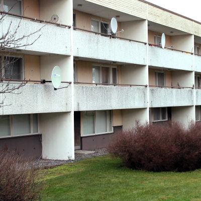 Höghus på Åvägen i Närpes