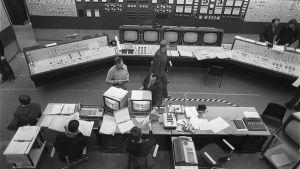Kontrollrum vid Lovisa kärnkraftverk, 1976