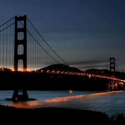 Golden Gate bron i San Fransisco under Earth Hour 2009. Bild: med tillstånd av WWF
