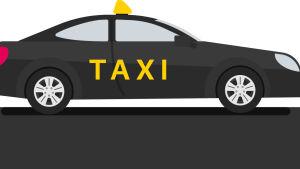 Grafik med en taxibil